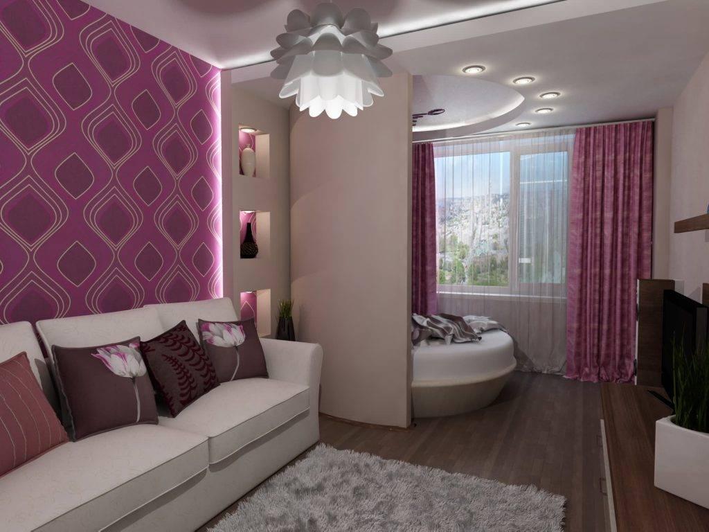 Зонирование комнаты на спальню и гостиную: как разделить на две зоны, современные идеи  - 27 фото