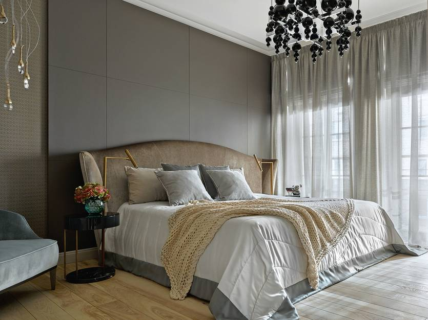 Выбор штор для современной спальни в 2020 году с фото