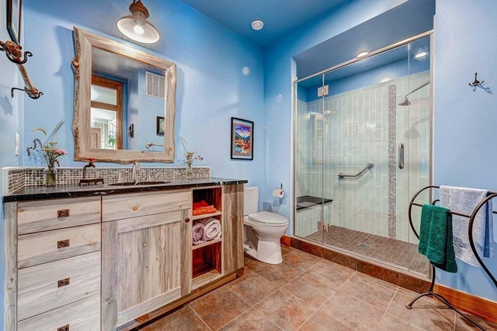 Дизайн ванной комнаты в частном доме +75 фото интерьера