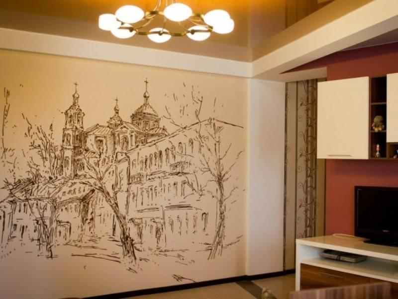 Роспись стен своими руками (44 фото): как расписать их в квартире акриловыми красками? трафареты для начинающих, роспись в интерьере ванной и других комнат