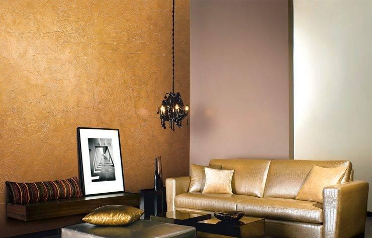 Декоративная штукатурка в интерьере спальни, гостиной: цвета, дизайн  - 32 фото