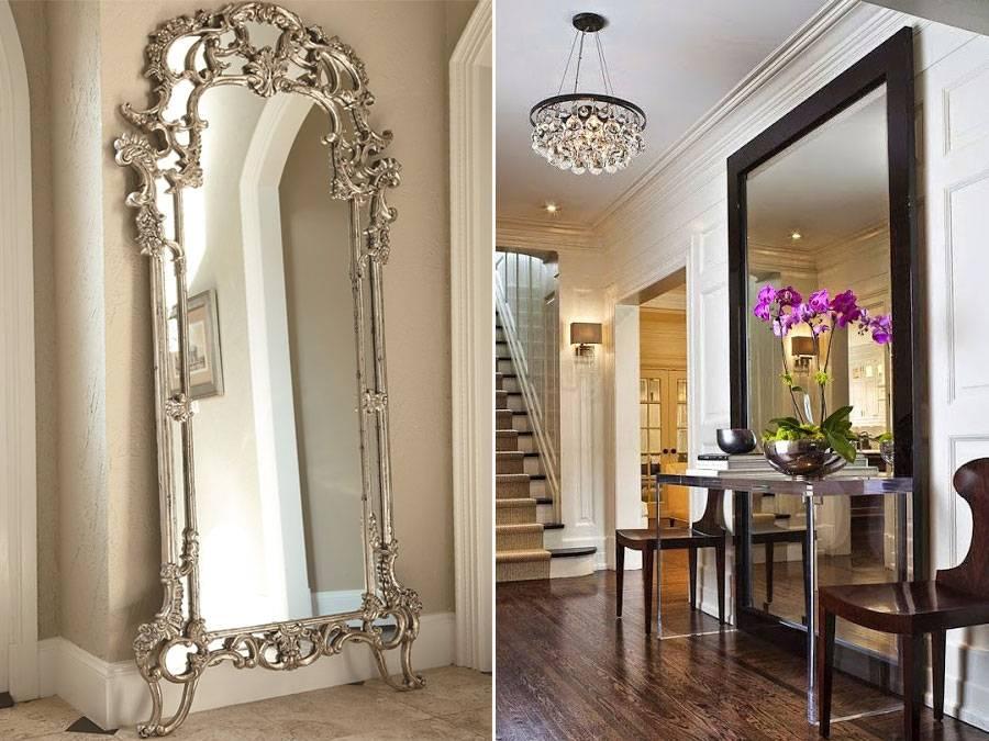 Отделка стен зеркалами в прихожей, ванной, коридоре, кухне, спальне и гостиной