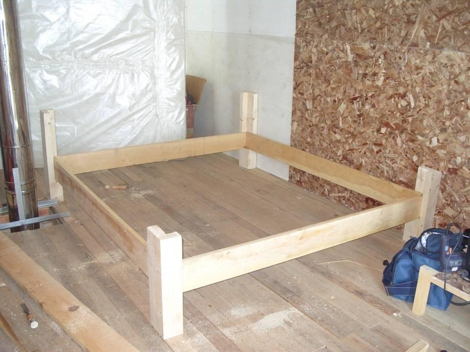 Кровать из дерева своими руками чертежи схемы