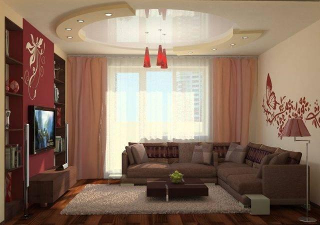 Современный дизайн зала: 58 вариантов на любой вкус