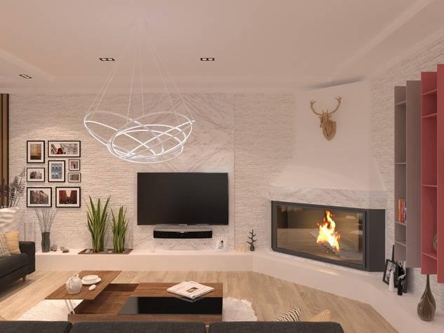 Камин в интерьере гостиной: 115 фото решений дизайна, модные тенденции в оформлении камина