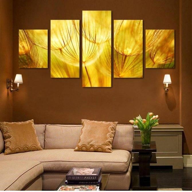 Варианты использования фресок в интерьерах разных комнат