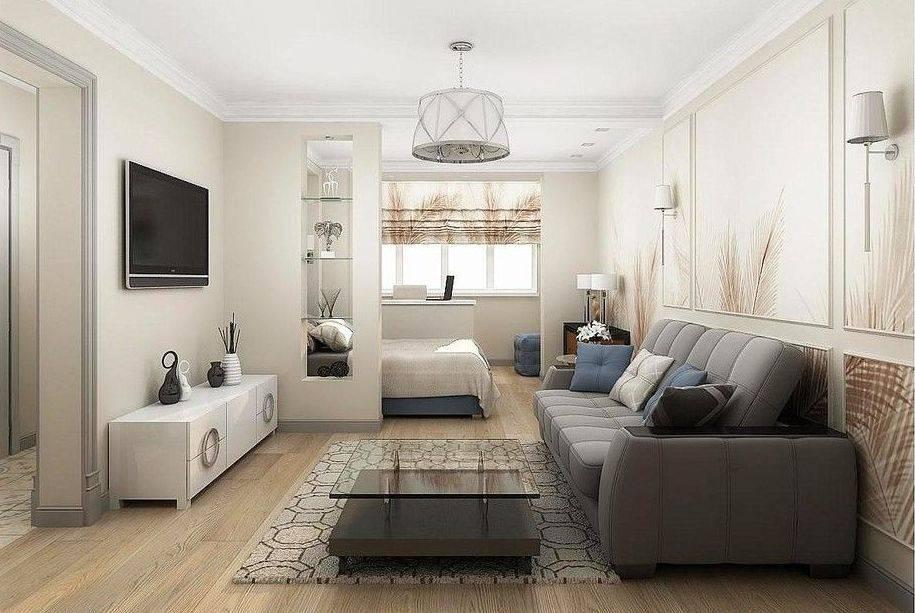 Дизайн однокомнатной квартиры 36 кв. м. с чего начинать ремонт?