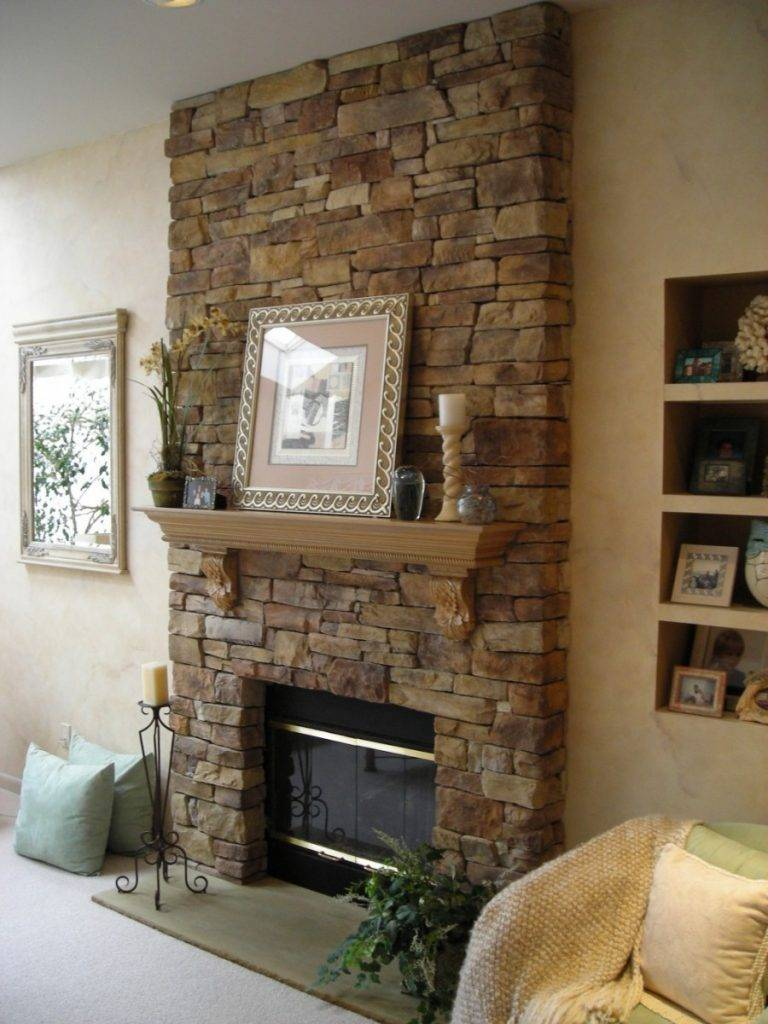 Отделка камина – стильные варианты облицовки и оформления центрального элемента комнаты (105 фото)