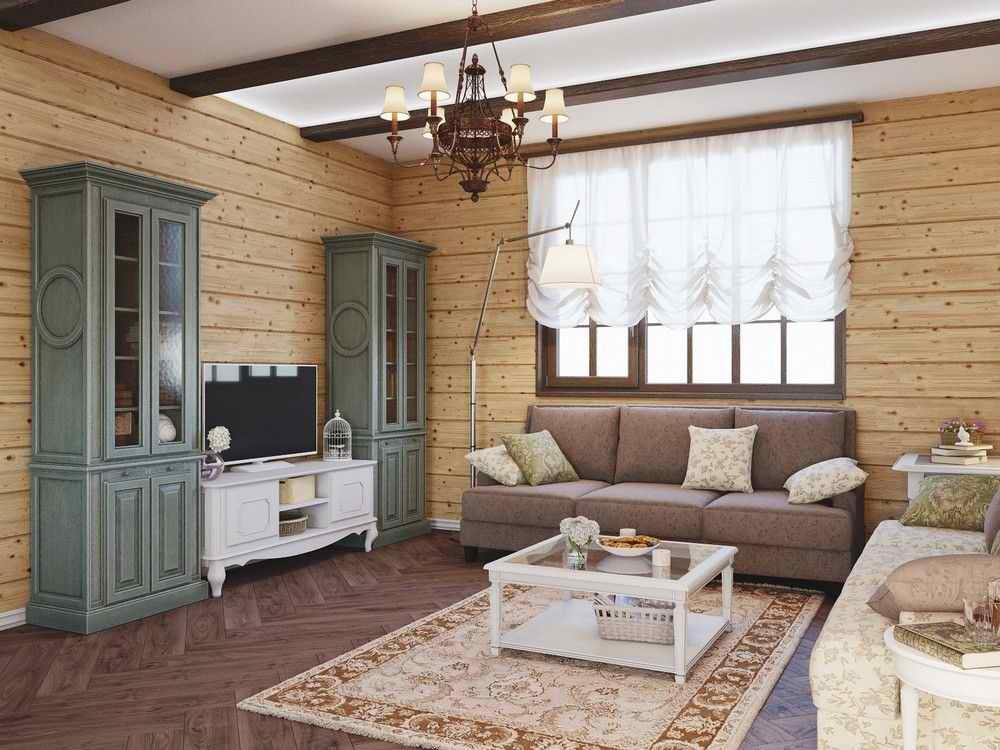 Интерьер дома из бруса внутри — фото дизайна по комнатам