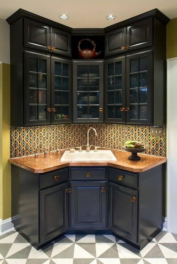 Угловые кухни: 130 фото реальных примеров дизайна и секреты угловых моделей кухонь