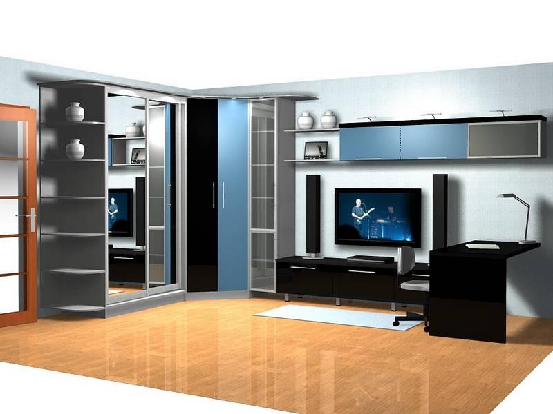 Модульные стенки в гостиную современные (55 фото): мини-горки и глянцевые угловые модели в зал, навесные цвета венге и новинки в оформлении