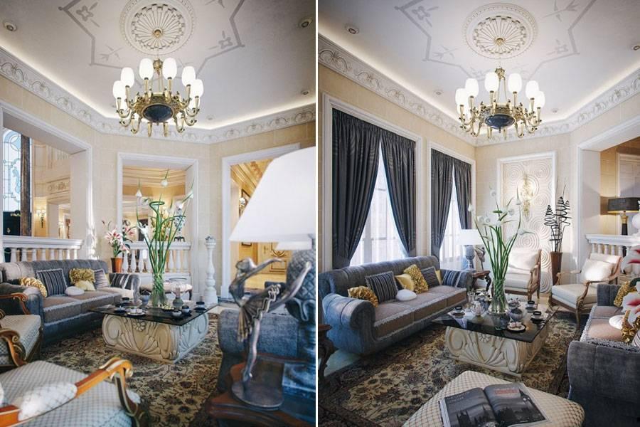 Примеры элитных дизайнов интерьера