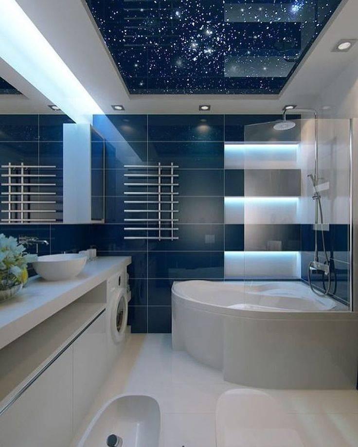 Натяжной потолок в ванной комнате – плюсы и минусы: виды, свойства, советы по выбору