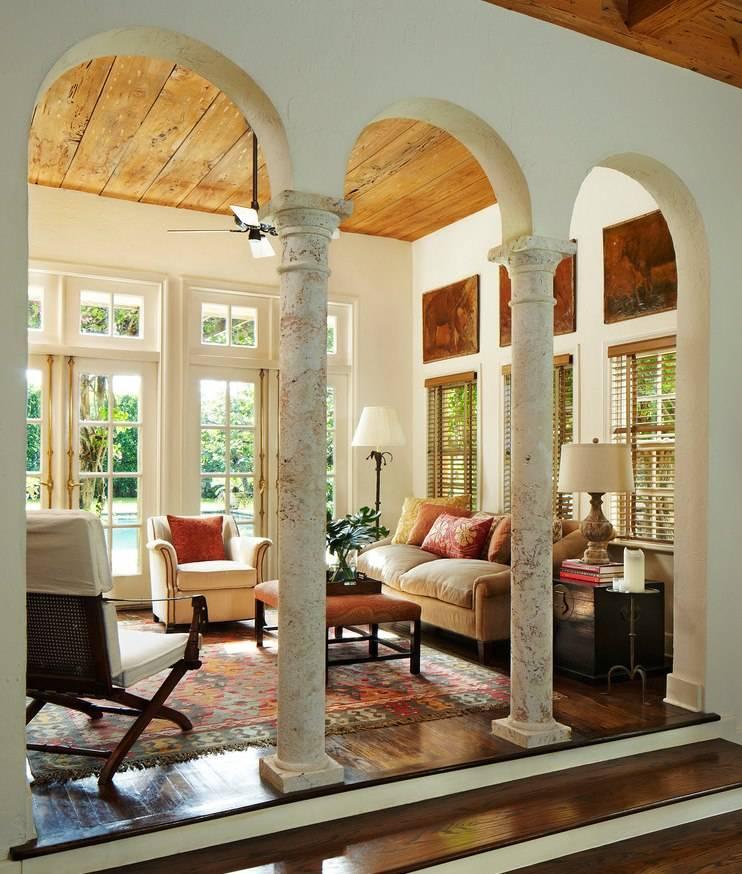 15 советов по оформлению колонн в интерьере квартиры