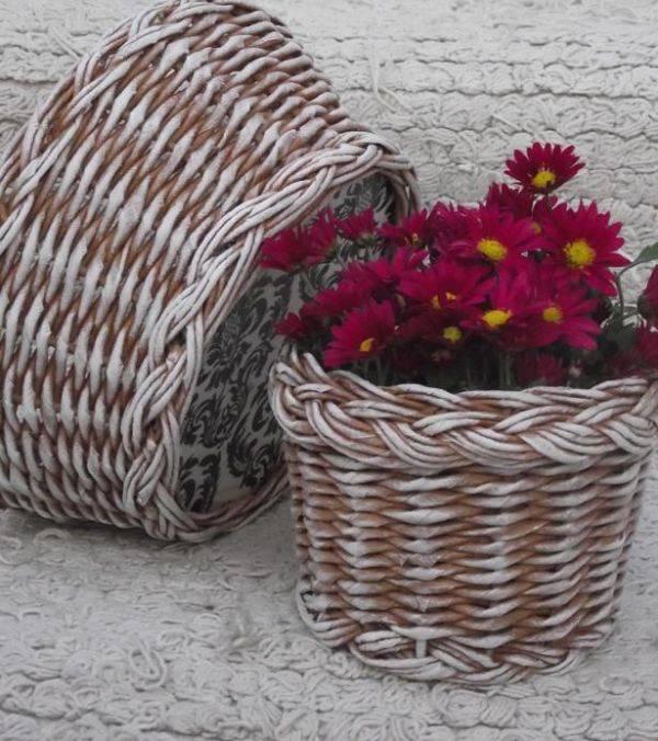 Поделки из газетных трубочек — 9 мастер классов плетения пошагово