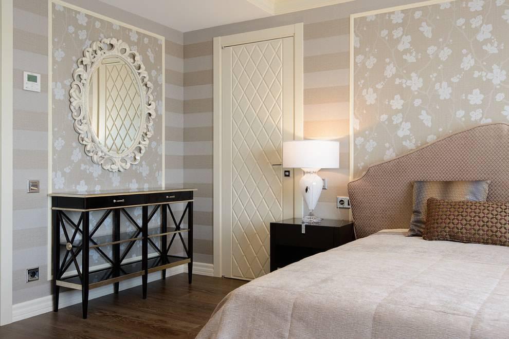 Как подобрать обои двух цветов в спальню: правила сочетания, способы декорирования