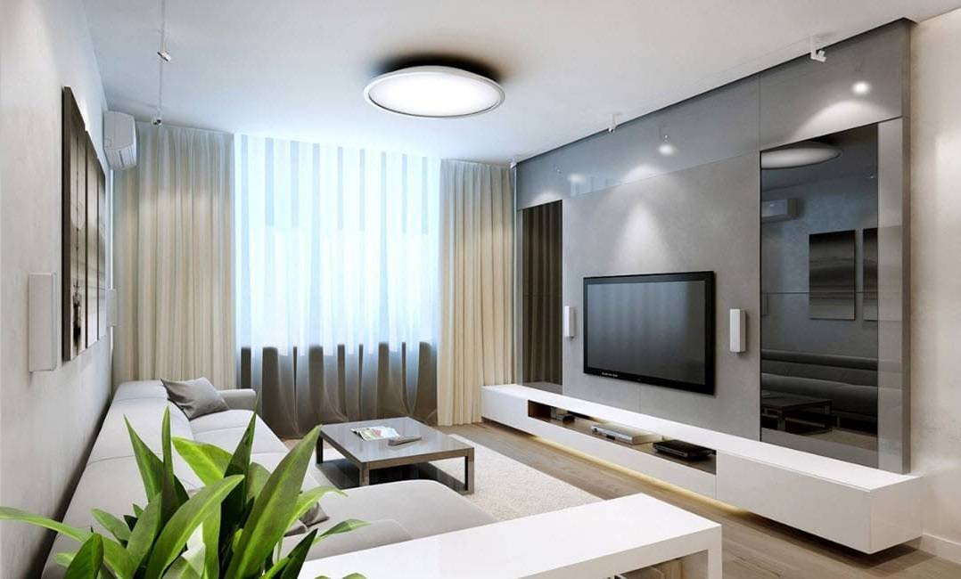 Интерьер гостиной 18 кв. м. с фото
