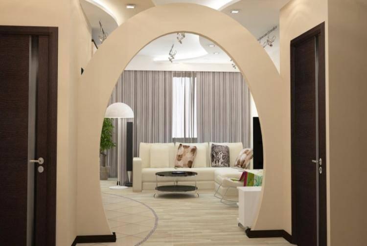Арки в зал (46 фото): дизайн арок из гипсокартона вместо двери и красивые арки из дерева, другие варианты в интерьере гостиной