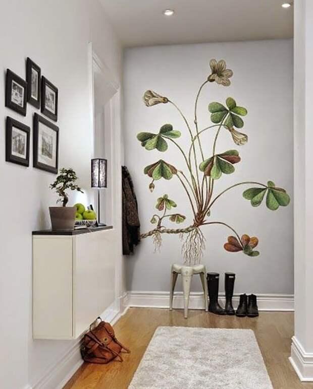 Рисунки на стене в квартире - особенности, техники