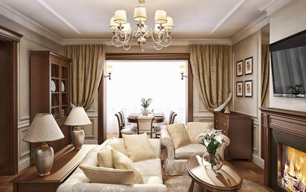 Классические гостиные (205+ фото): выбираем обои, диван, камин