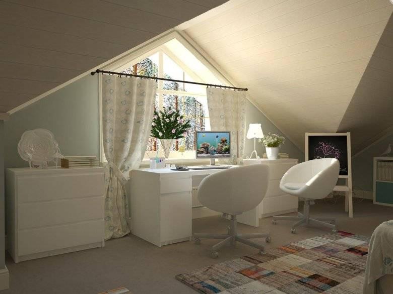 Обустройство детской на мансардном этаже: выбор стиля, отделки, мебели и штор