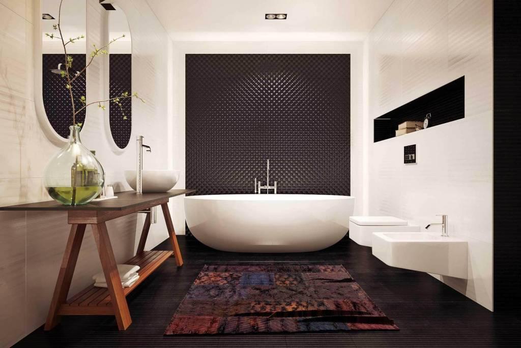 Раскладка плитки в ванной: идеи дизайна и правила размещения (110 фото примеров)