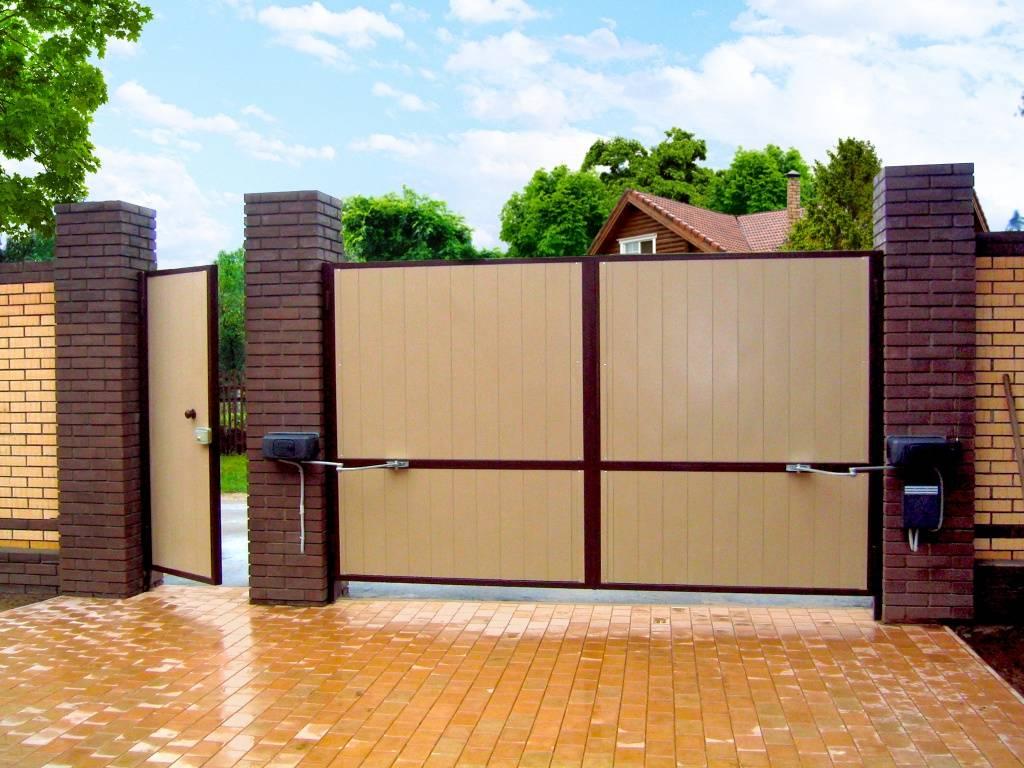 Выбор красивых и функциональных ворот для забора — ландшафтный дизайн двора