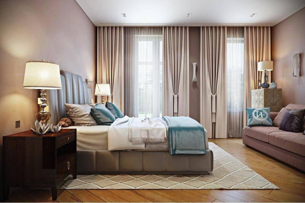 Дизайн комнаты с двумя окнами на разных стенах, дизайн гостиной 19-20 м.кв с двумя окнами
