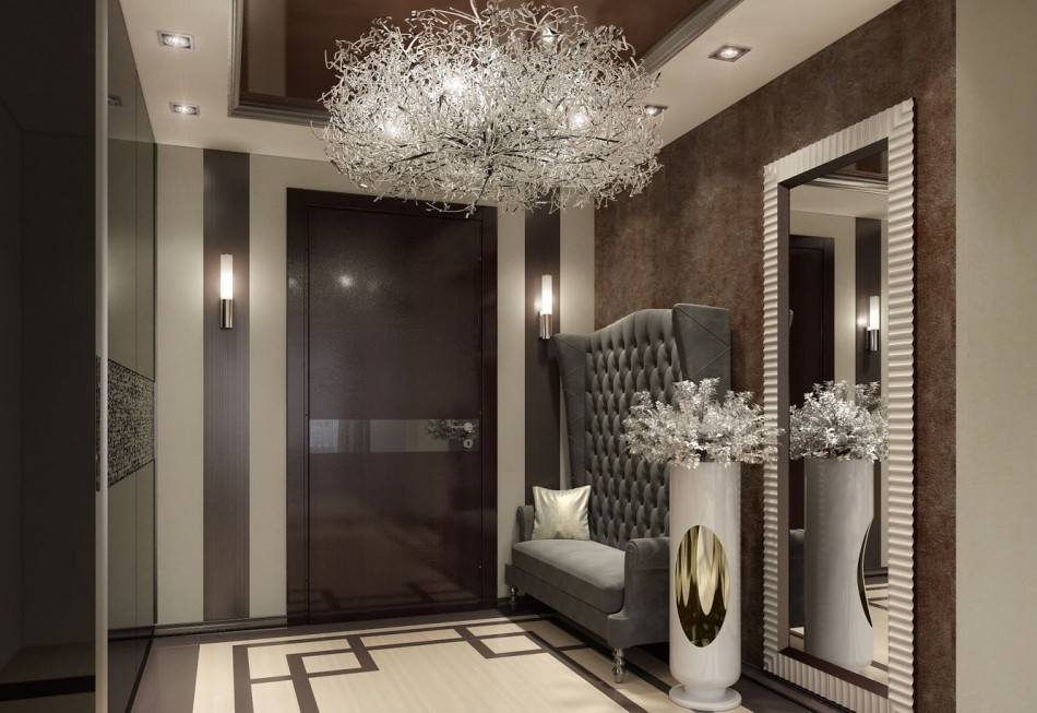 Стены в прихожей: в квартире, в частном доме, варианты отделки, современный дизайн интерьера, фото
