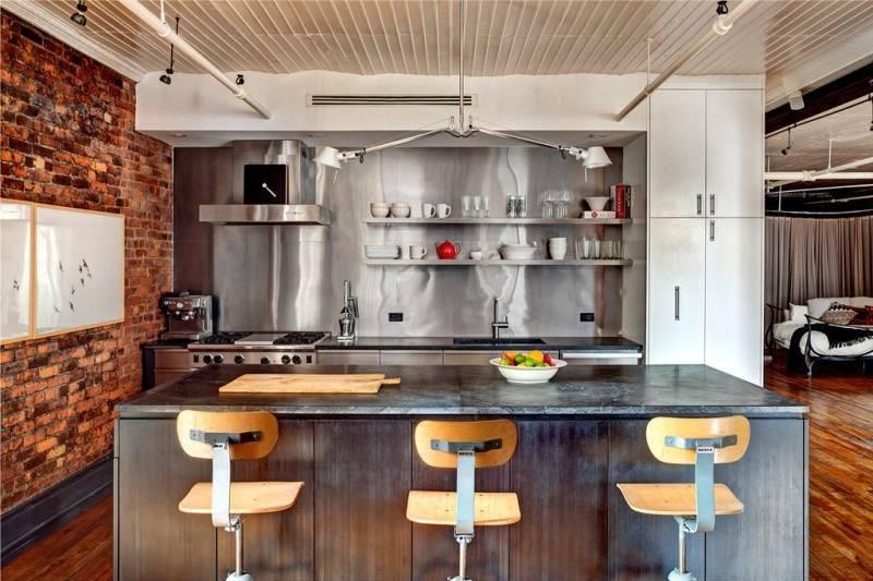 Кухня в стиле лофт: 50+ фото примеров дизайна современной кухни