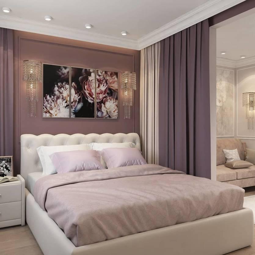 Дизайн спальни-гостиной: 18 готовых проектов – 43 фото