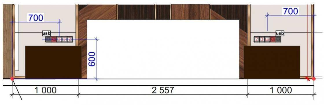 Расположение розеток в спальне. как правильно разместить розетки и выключатели в спальне - все о строительстве