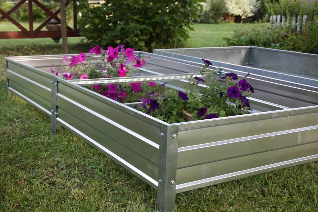 Металлические грядки с полимерным покрытием для огорода и теплицы