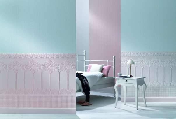 Обои под покраску (56 фото): как красить флизелиновые или другие обои своими руками и как можно перекрасить их на стене