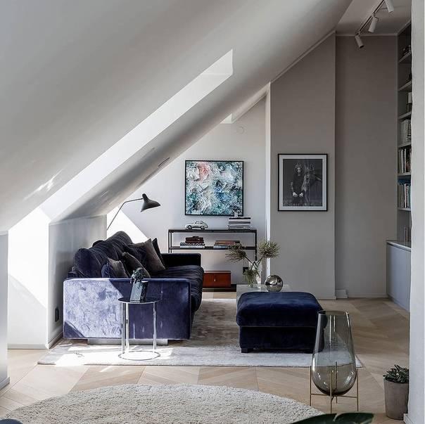Дизайн мансарды +90 фото примеров обустройства мансардного этажа