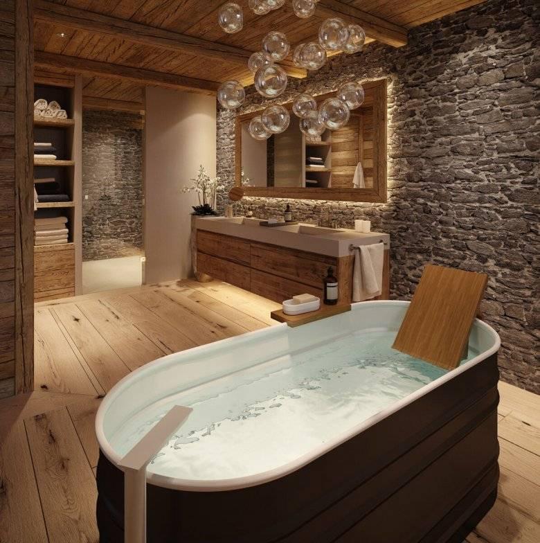 Ванная комната в деревянном доме: гидроизоляция, отделка поверхностей, дизайн помещения с фото примерами