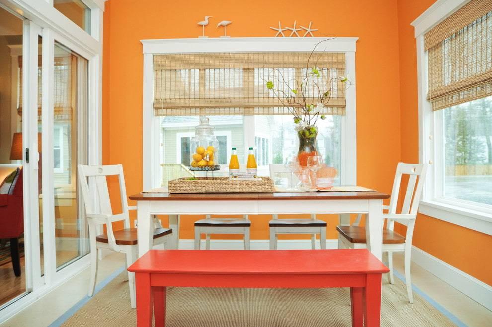 Оранжевый интерьер: идеи использования, характеристики и варианты сочетания интерьера (155 фото-идей)