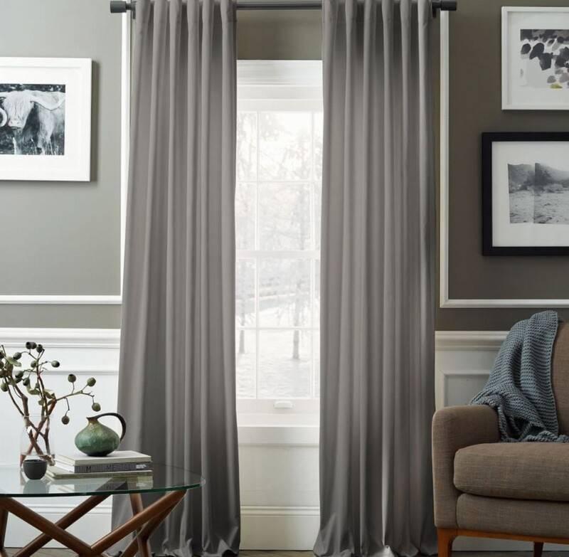 Серые шторы в спальне: примеры сочетания серого цвета с обоями, фото модных новинок, варианты дизайна