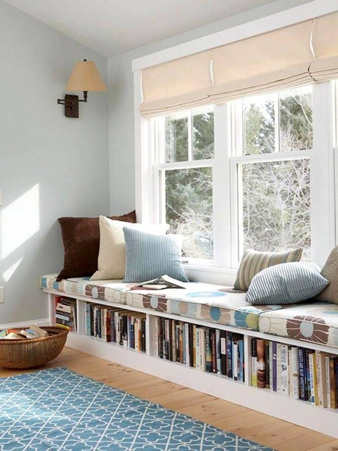 Дизайн широкого подоконника в спальне - рецепты мира