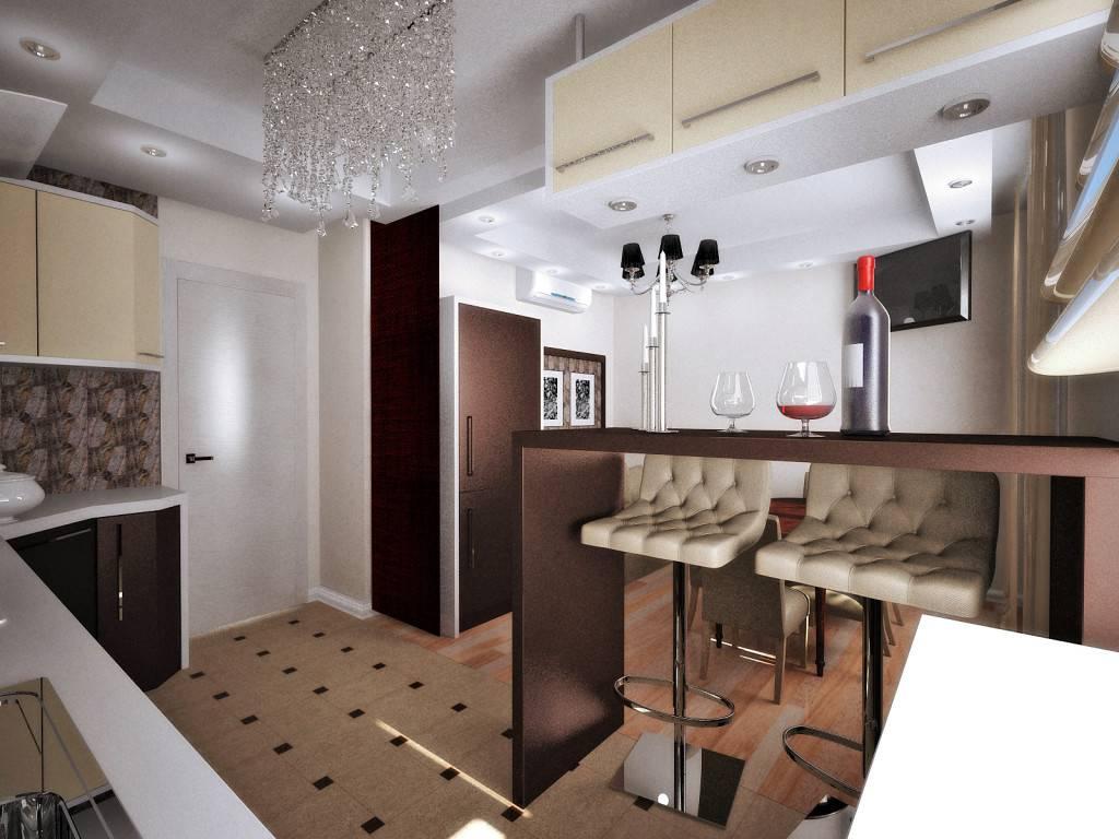 Кухня прихожая – особенности дизайна при совмещении