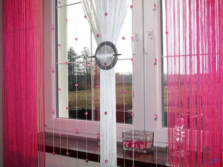 Нитяные шторы на кухню: фото идеи грамотного сочетания в интерьере