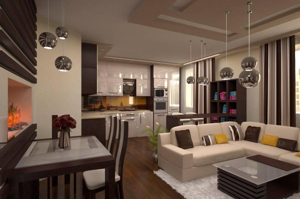 Дизайн и зонирование гостиной-студии