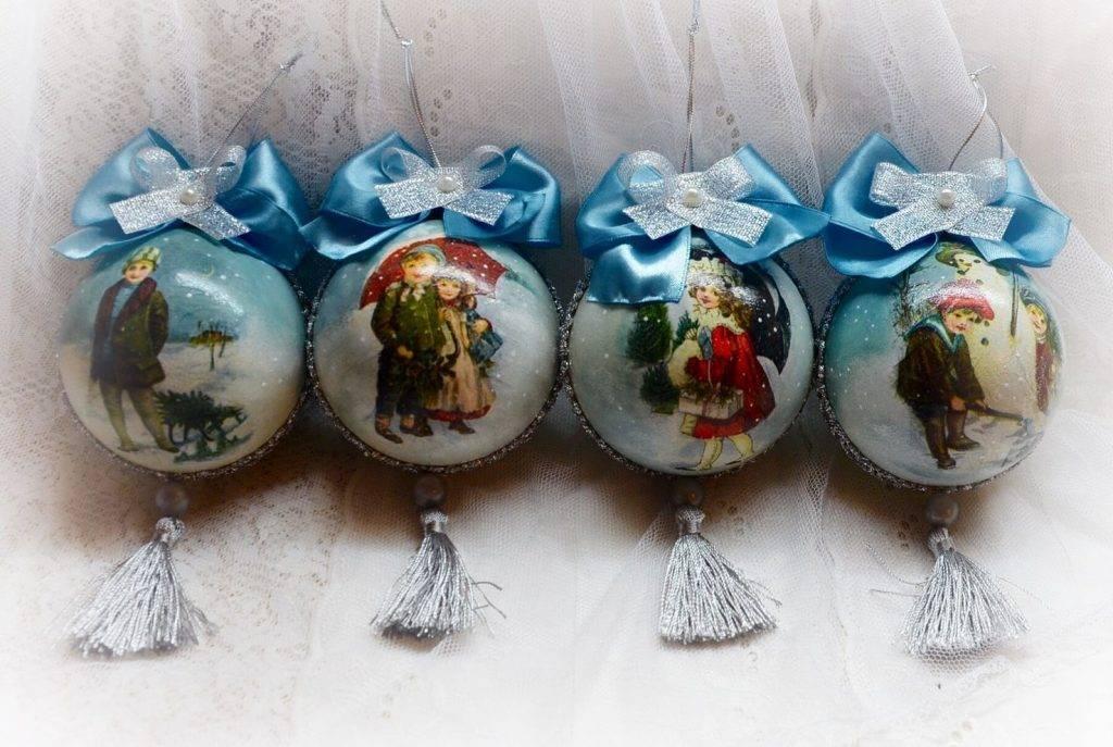 Декупаж новогоднего шара: елочный мастер-класс своими руками, видео и фото, пенопластовый мк и картинки