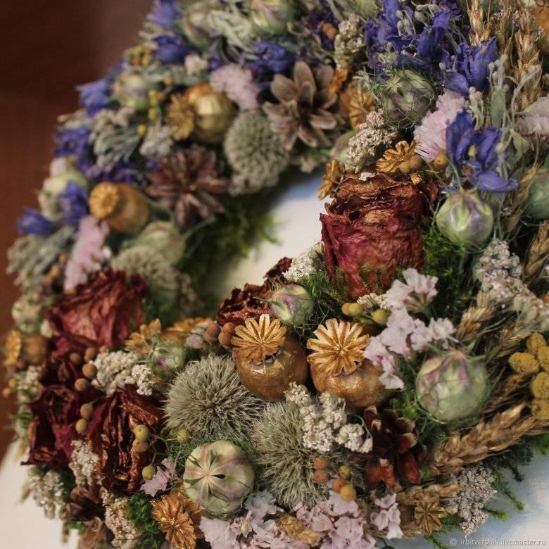Делаем панно из сухоцветов: композиции своими руками