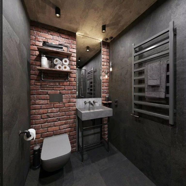 Туалет в стиле лофт (40 фото): варианты дизайна интерьера туалета очень маленькой площади, выбор унитаза