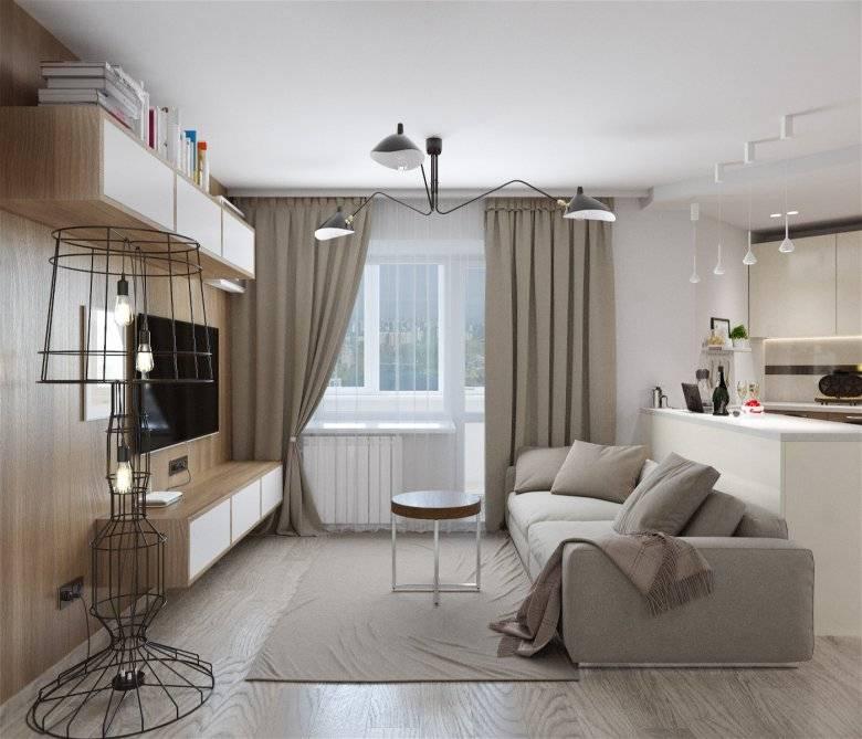 Однокомнатная квартира из прямоугольной студии 36 м – вариант 2