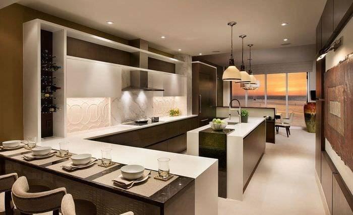 Кухня в стиле венге: дизайн, планировка, сочетание цветов, фото в интерьере