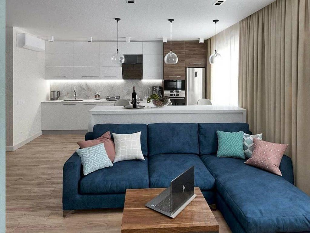 Кухня гостиная 110+ фото дизайнов интерьера совмещенной комнаты