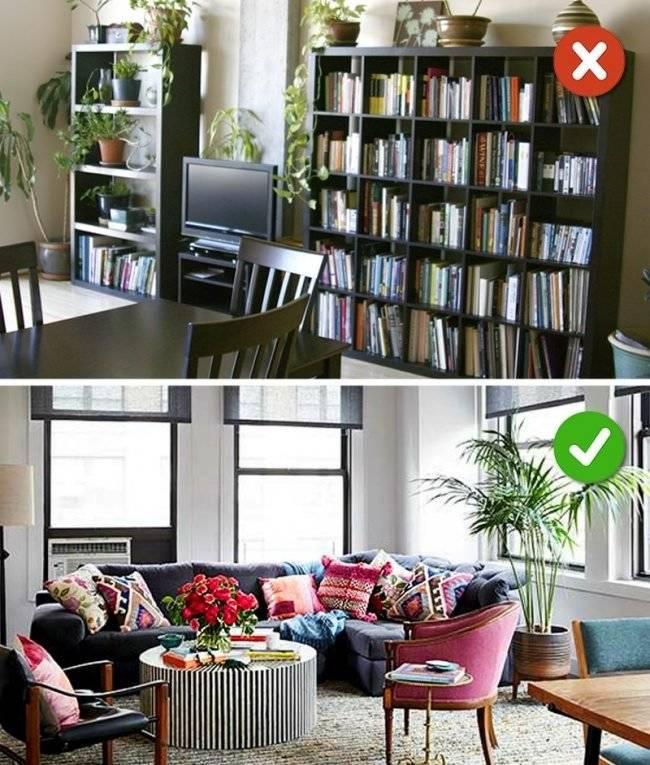 9 типичных ошибок в дизайне интерьера