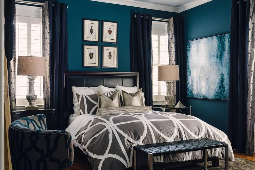 Голубая спальня (145 фото): особенности дизайна и оформления спальни в голубых тонах